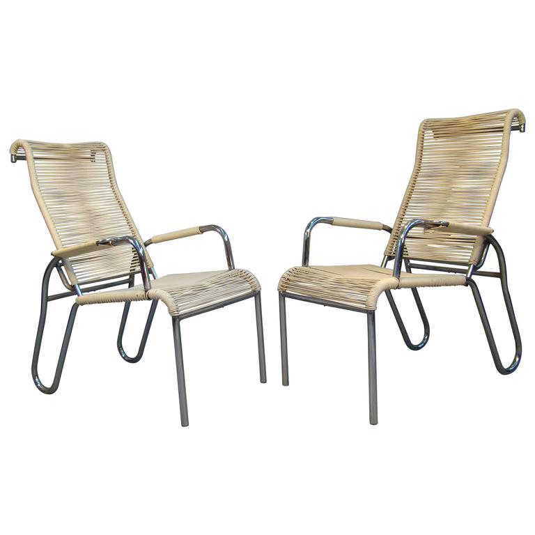 Pair Of Armchairs Art Deco Modernists Around 1930/1950