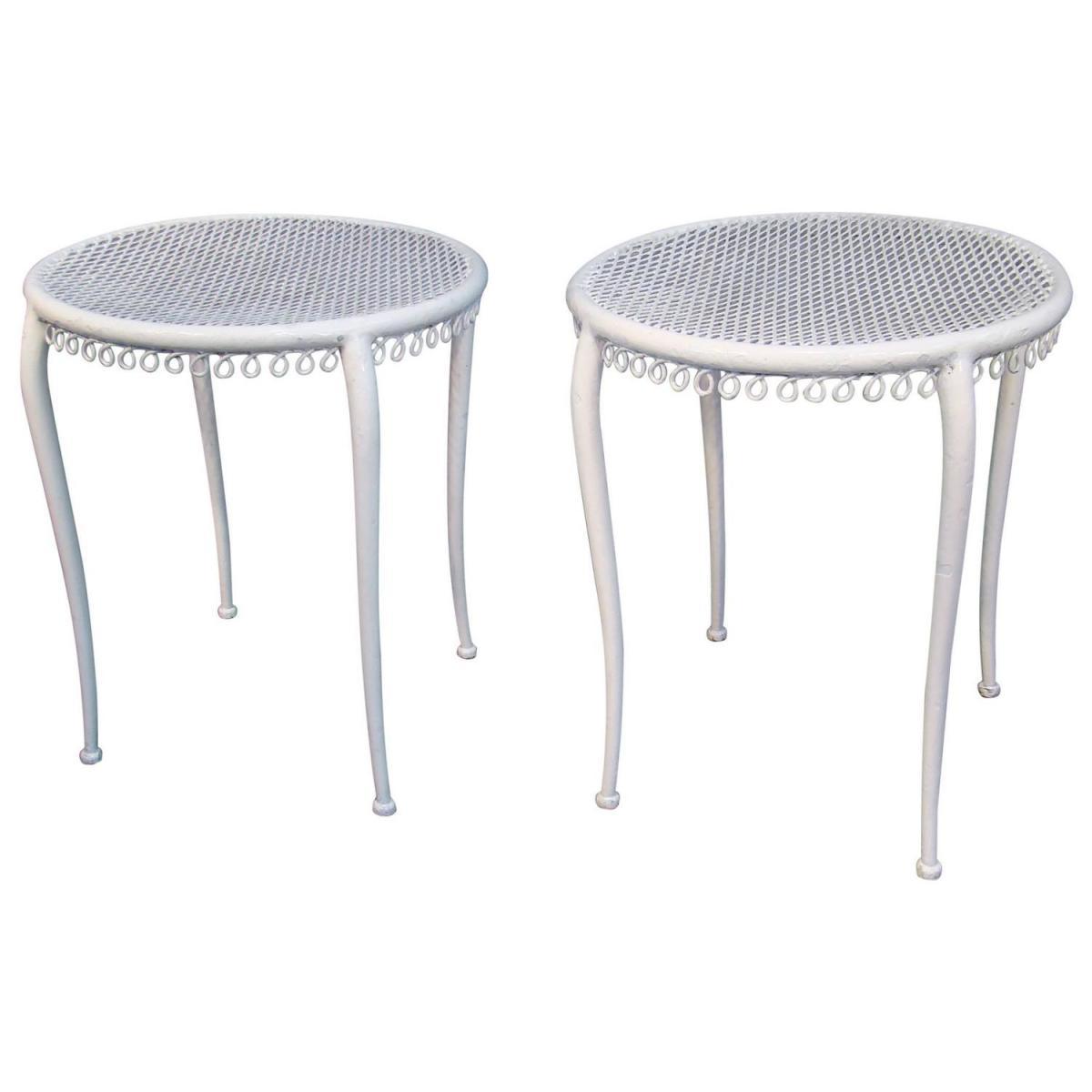 Paire De Tables d'Appoint Art Deco , Style René Prou, 1940