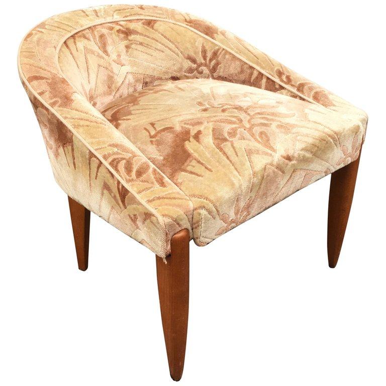 Dressing Table Seat Art Deco Circa 1930