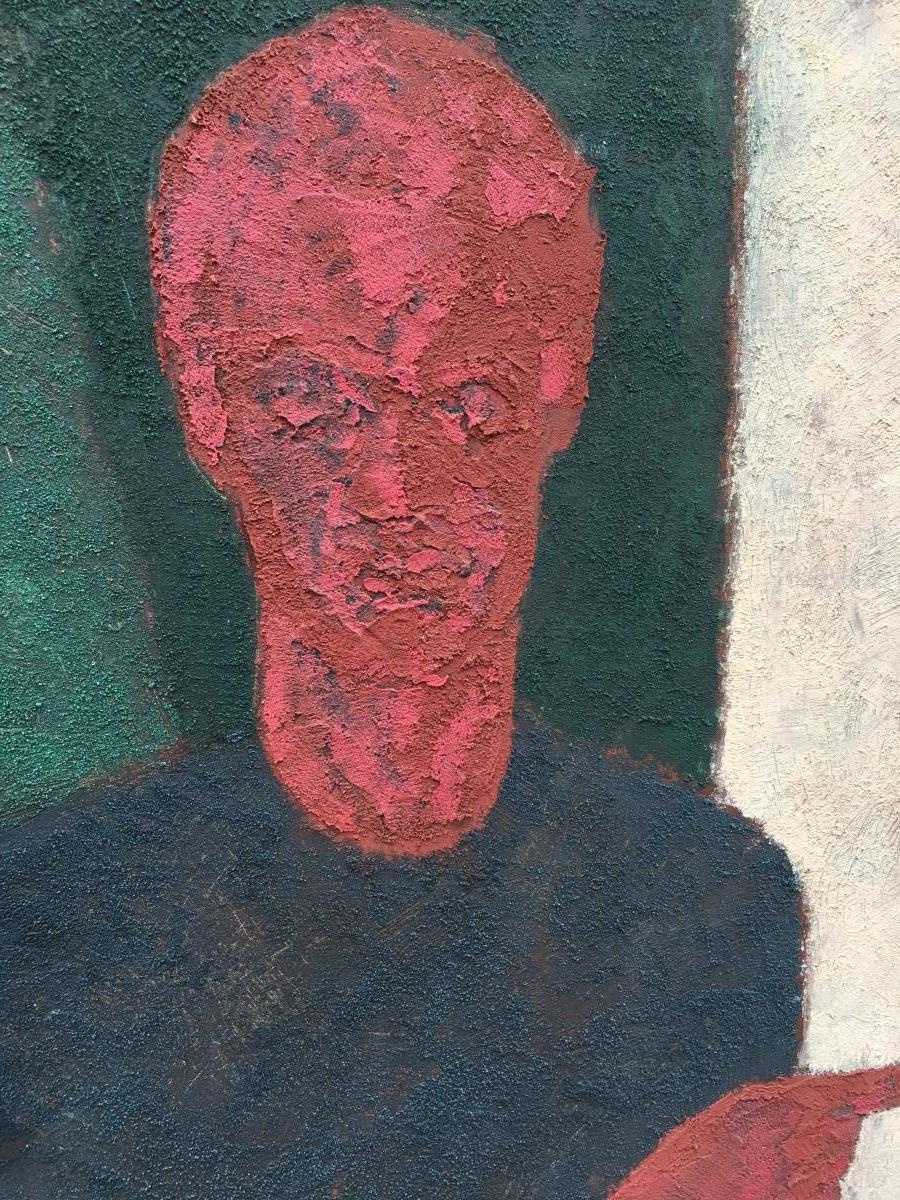 Marko Milovanovic (1965-) Auto-portrait ,technique Mixte  Daté 1991-photo-3