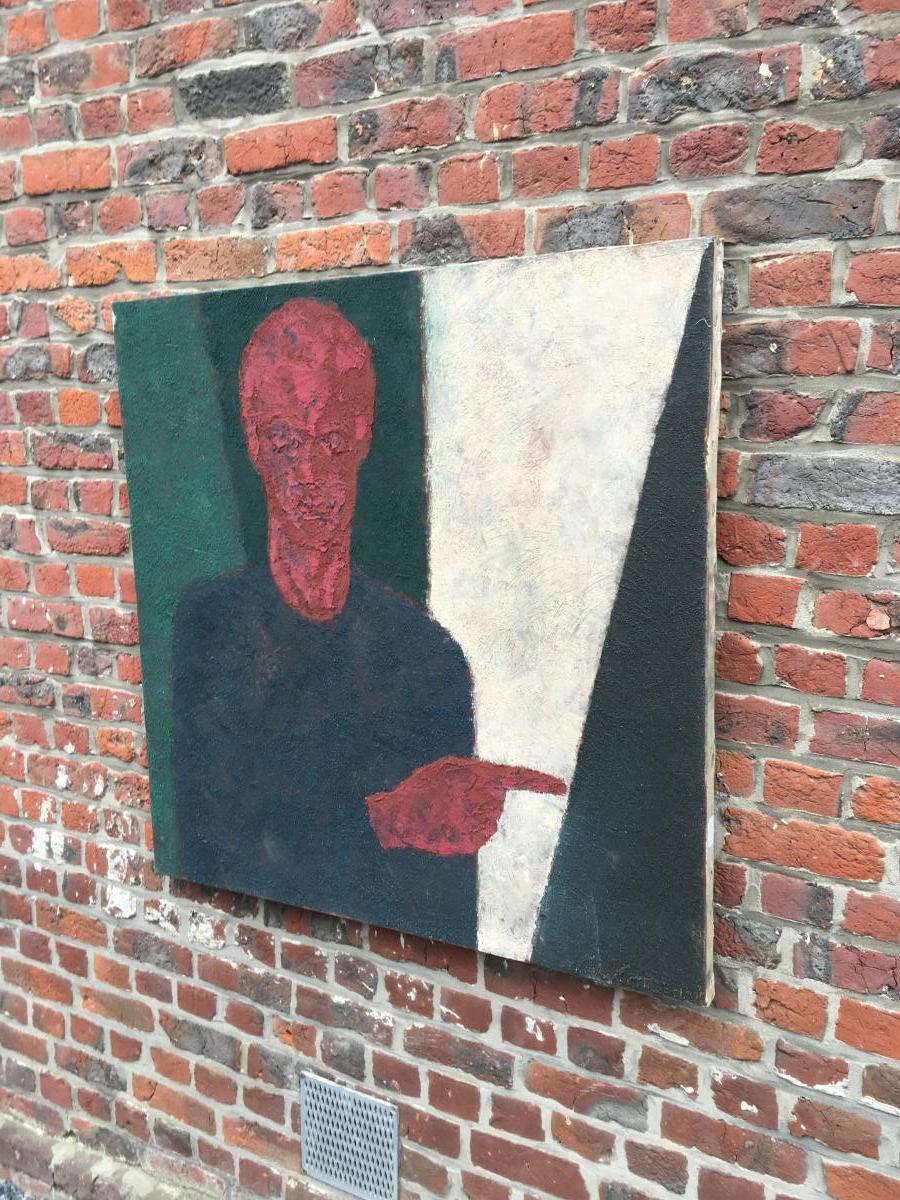 Marko Milovanovic (1965-) Auto-portrait ,technique Mixte  Daté 1991-photo-1