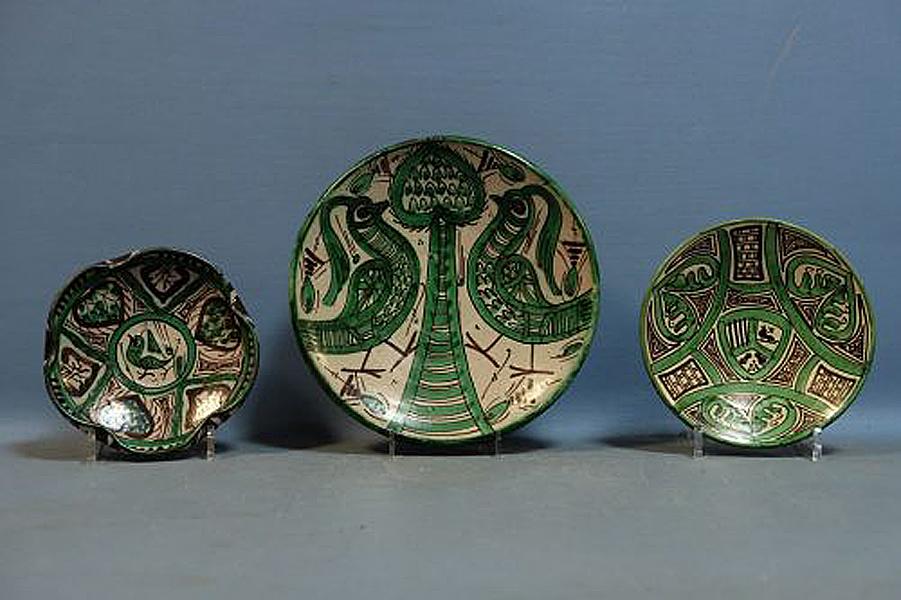 Punter Domingo », Trois Plats En Céramique, Espagne Circa 1960