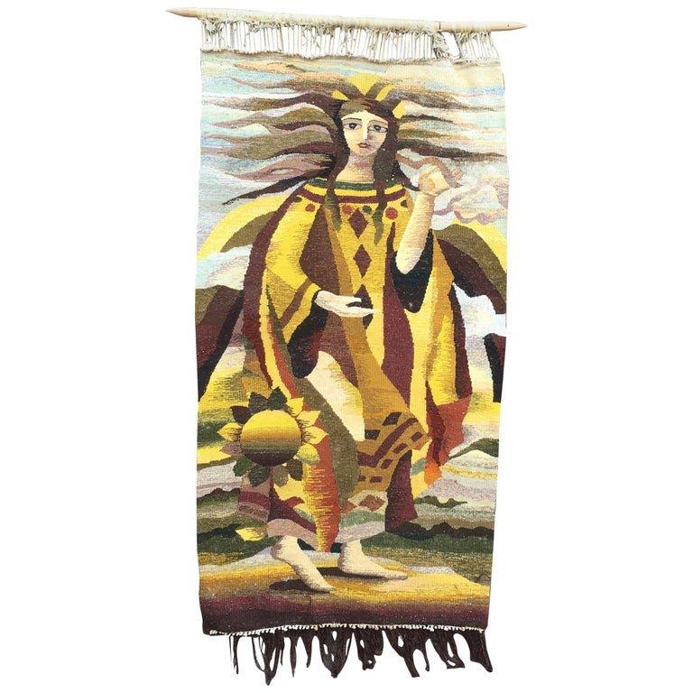 Art Deco Wool Tapestry, Circa 1930/1950
