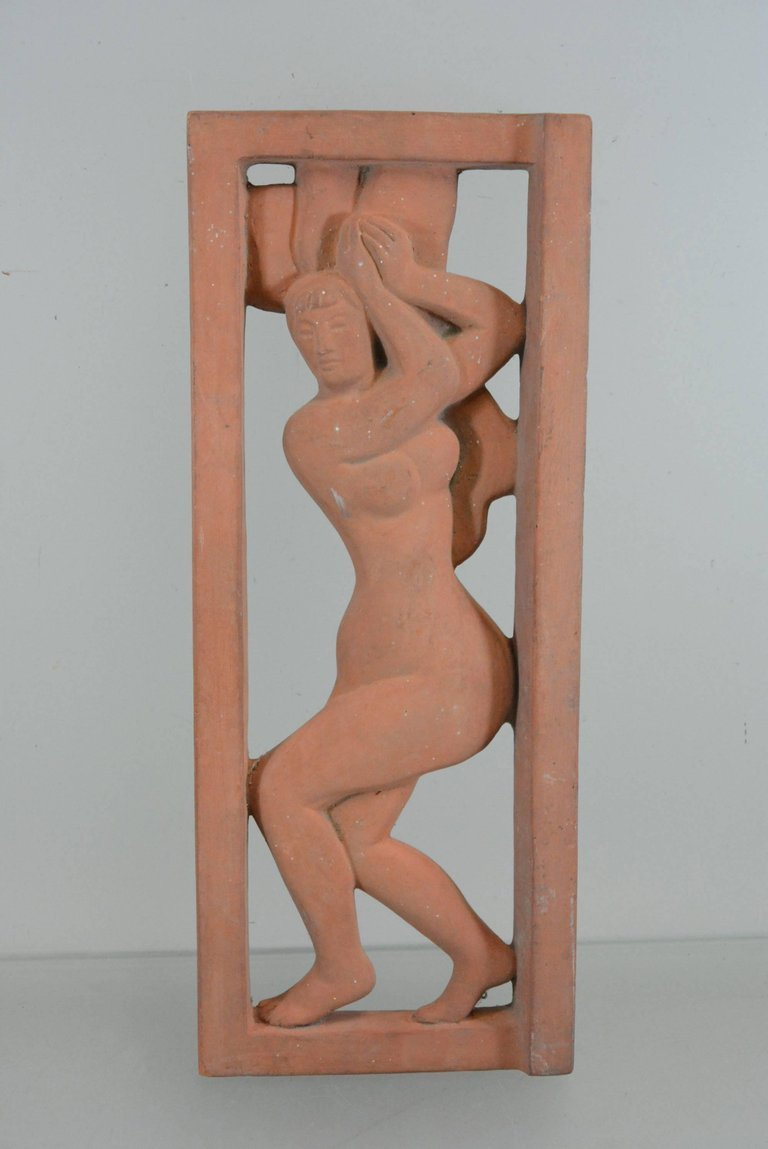 De Bonnaires Sulpture Terracotta Signed And Dated 1959