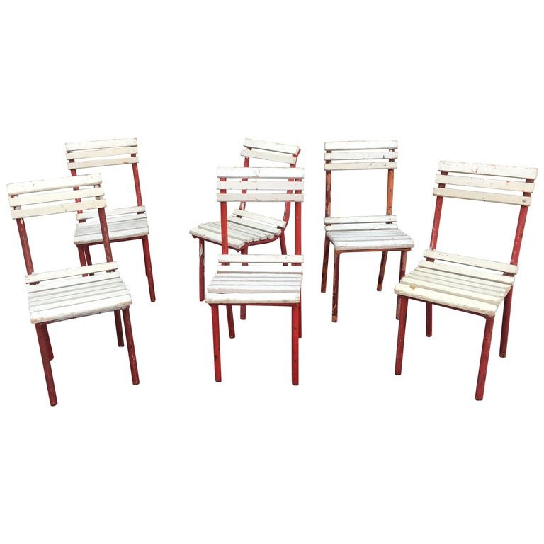 6 Chaises Art Deco (d\'un Salon) Attribuée à Pierre Dariel Ou ...