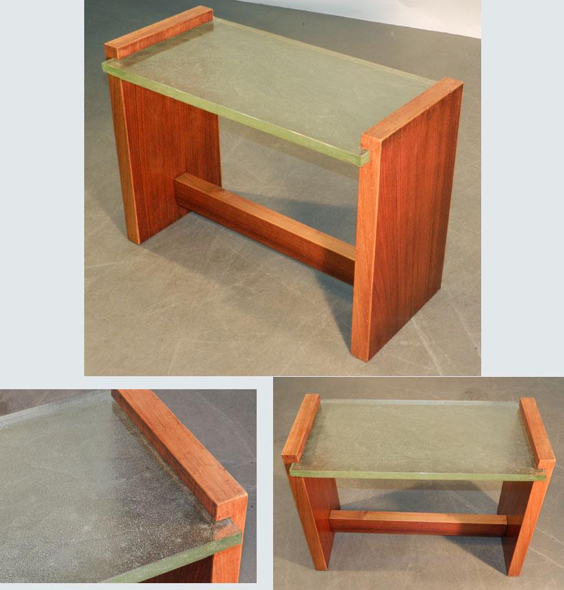 Jacques adnet attribue a table de salon 1930 tables - Table de salon plexiglass ...