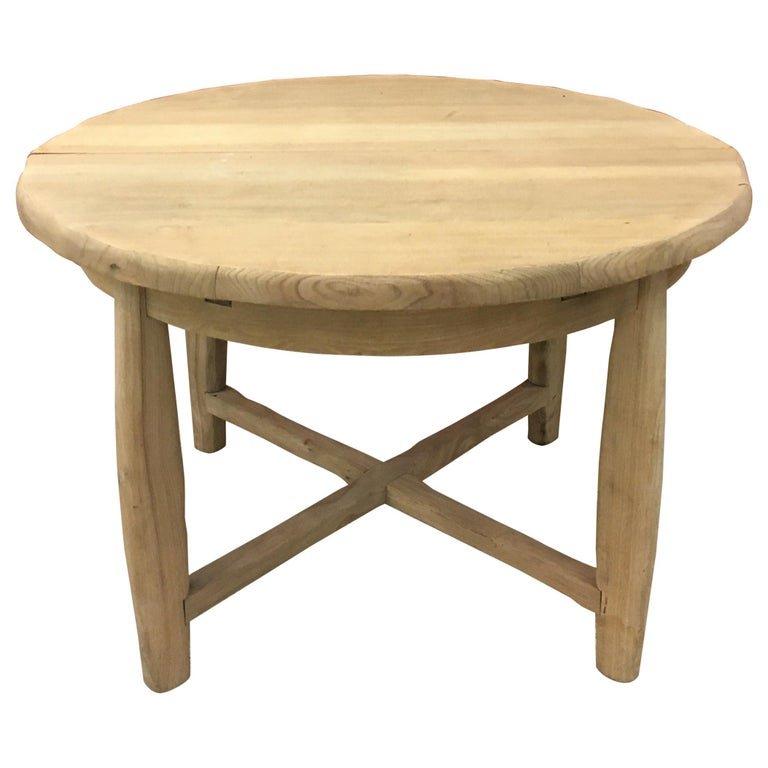 Brutalist Table In Massive Elm, Circa 1950/1960
