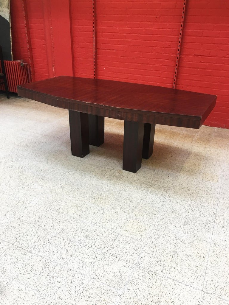 Table Art Deco Modernist Rosewood 1920/1930 Attributed To Jacques Adnet-photo-1