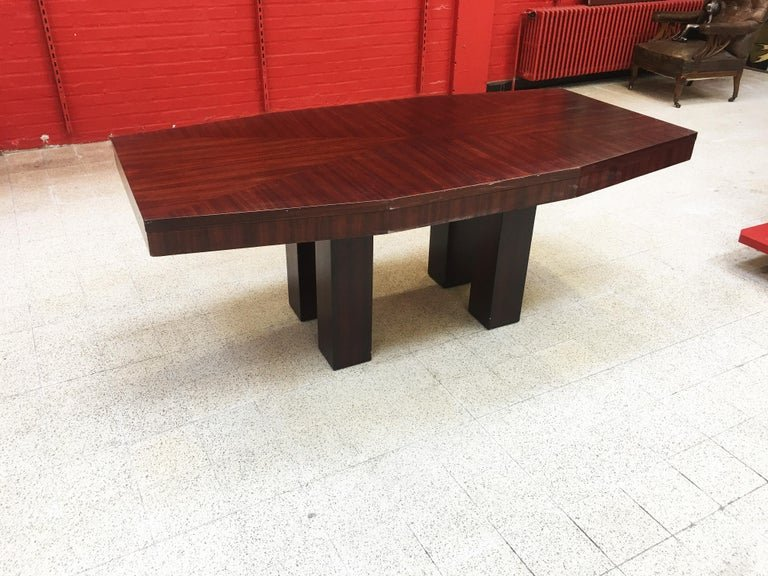 Table Art Deco Modernist Rosewood 1920/1930 Attributed To Jacques Adnet-photo-2