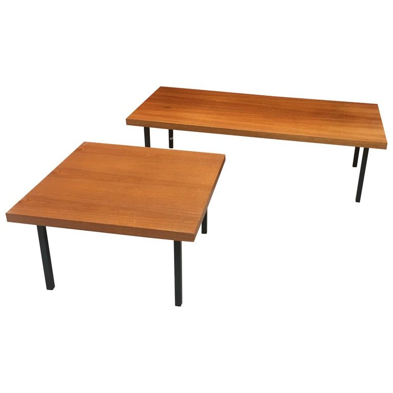 2 Living Room Tables In The Style Of Knoll, Circa 1960