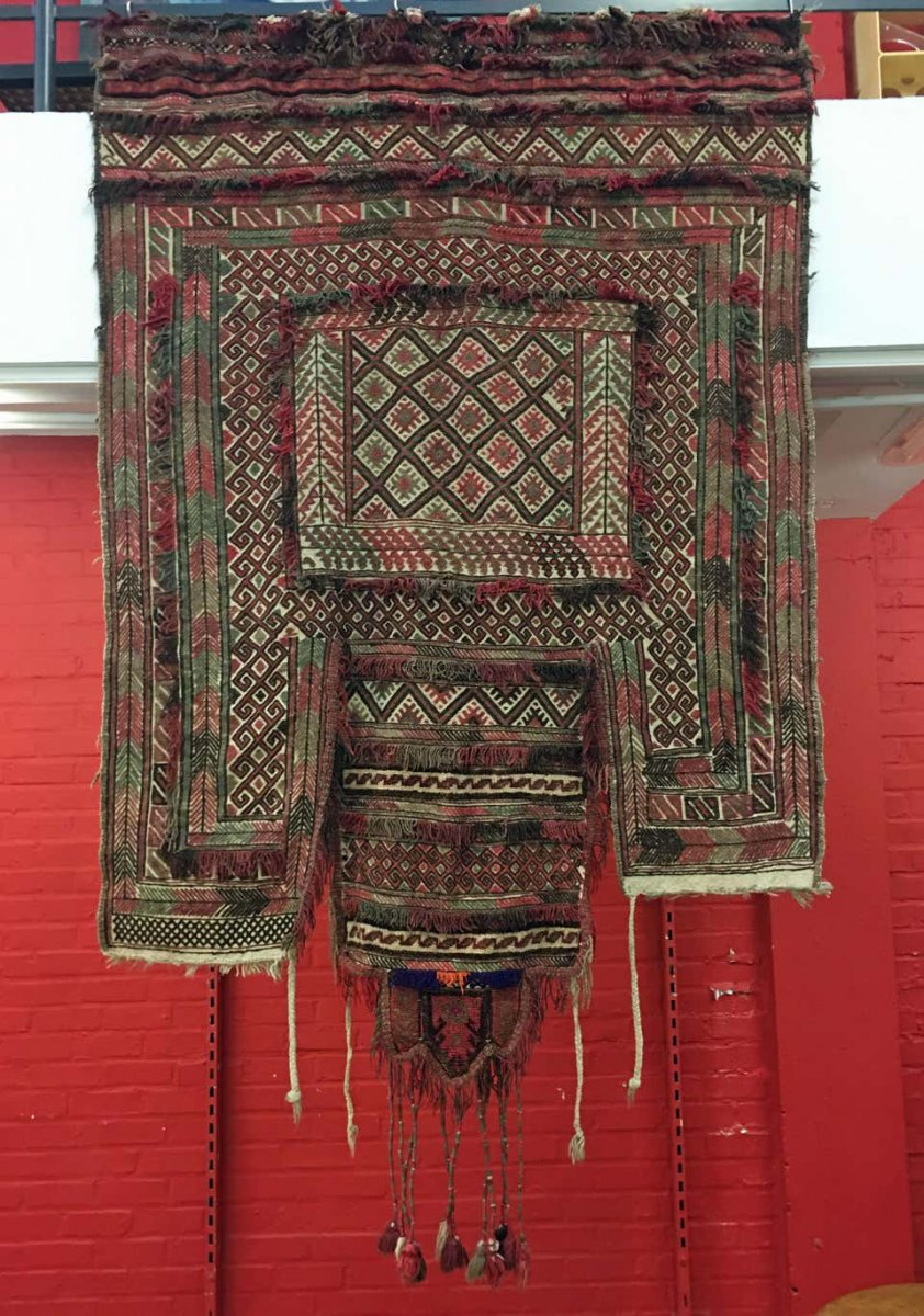 Old Tapestry (door) In Wool, North Africa, Circa 1930/1950