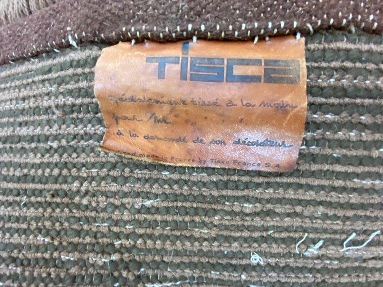 Tisca , Grand Tapis Vintage En Laine épaisse , Commande Speciale Circa 1960/1970-photo-3
