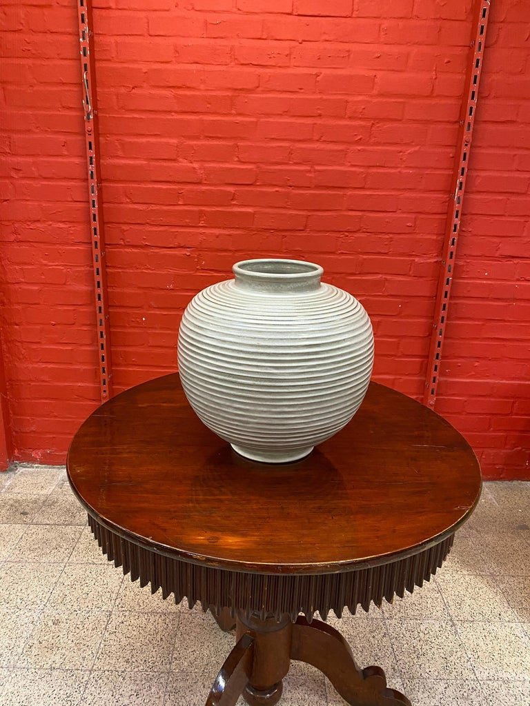 Large Art Deco Vase, In The Style Of Jean Besnard Or Primavera, Circa 1950-photo-2