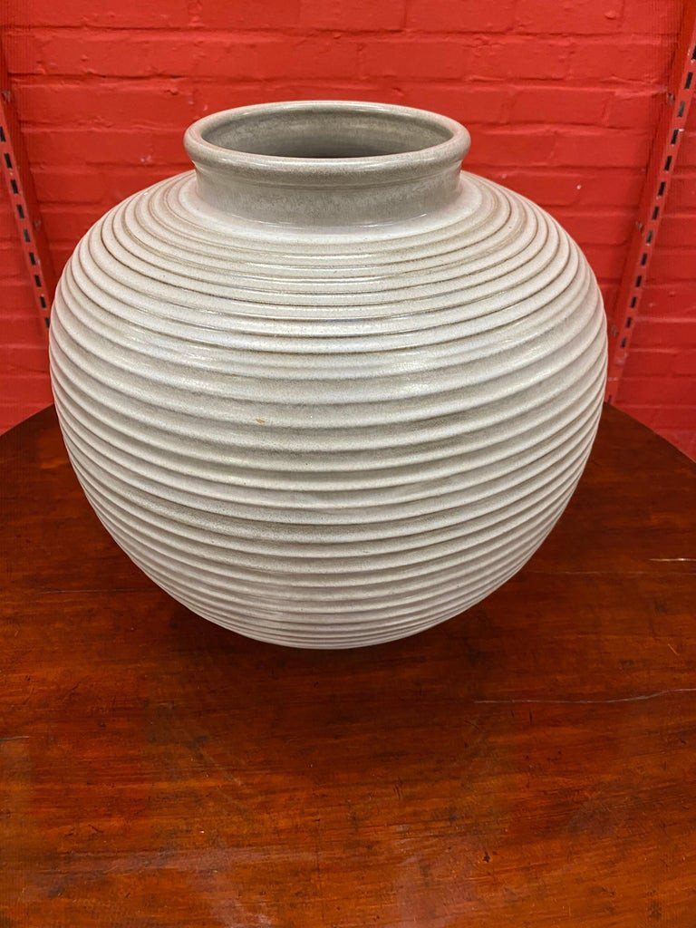 Large Art Deco Vase, In The Style Of Jean Besnard Or Primavera, Circa 1950-photo-3