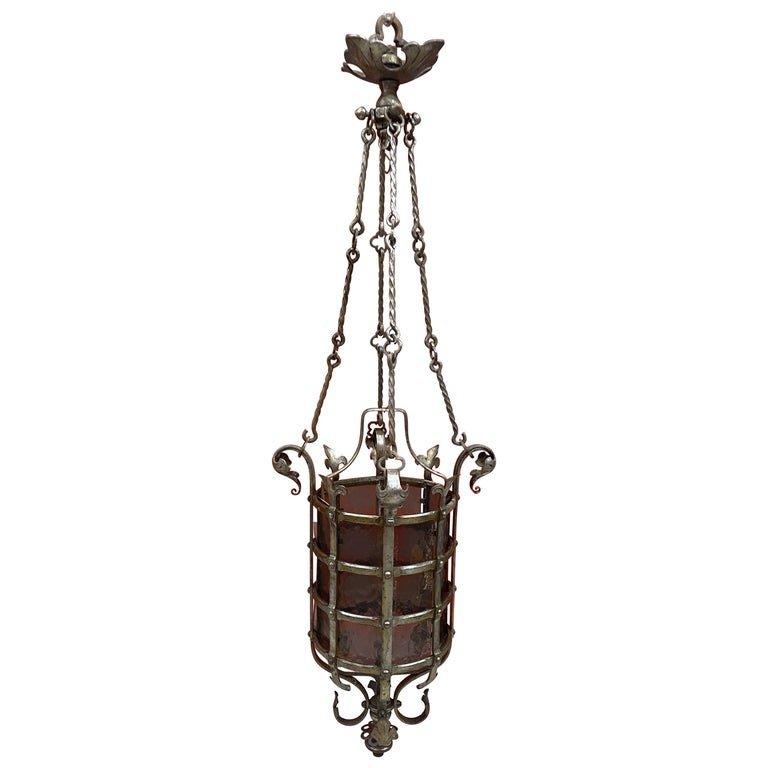 Lanterne De Chateau Circa 1930,  Joli Travail De Ferronerrie