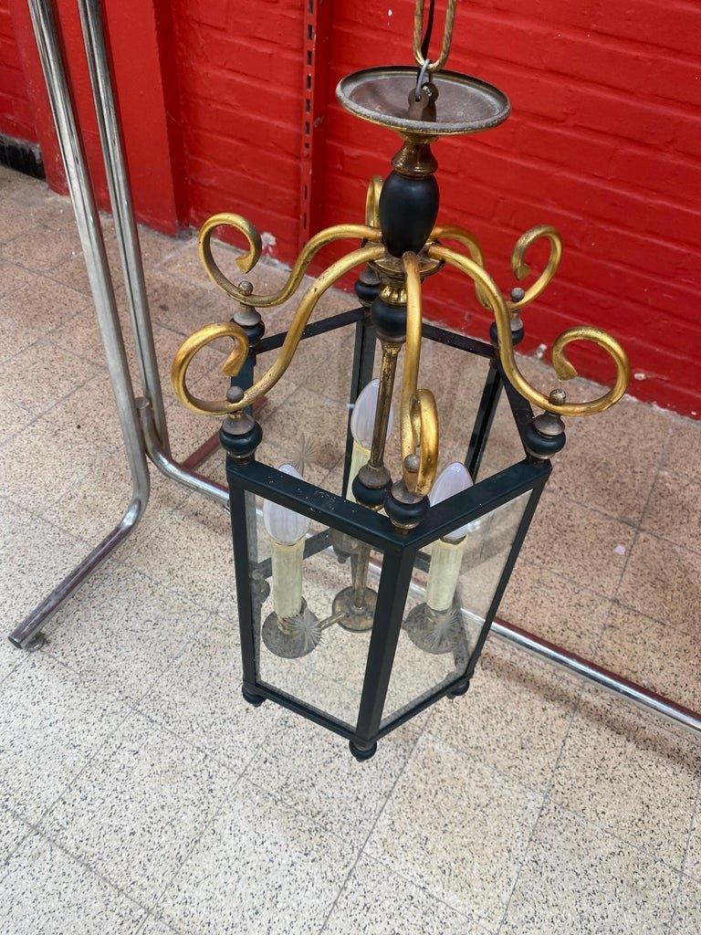 Lanterne Néoclassique Circa 1950-photo-2