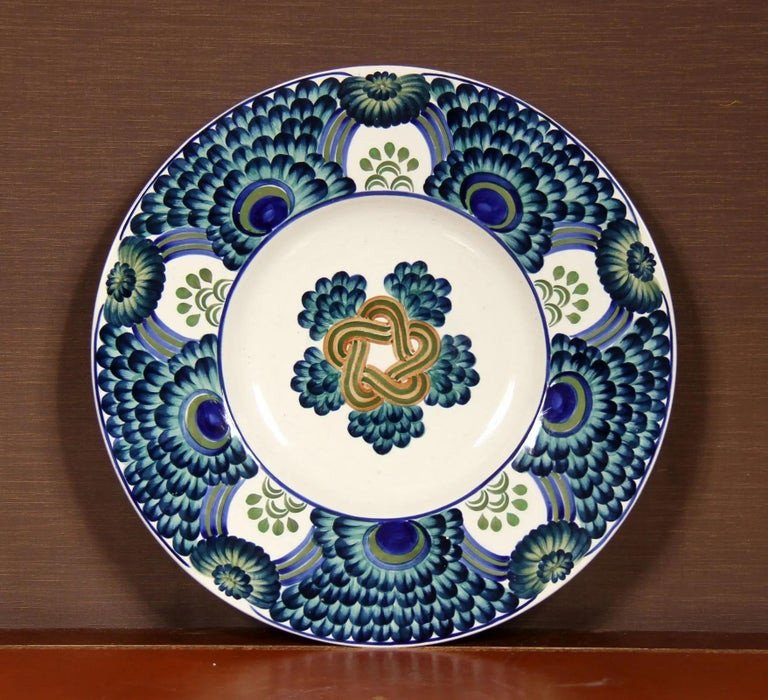 Berthe Jessen (bj) Aluminia Copenhagen. Large Ceramic Dish-photo-3