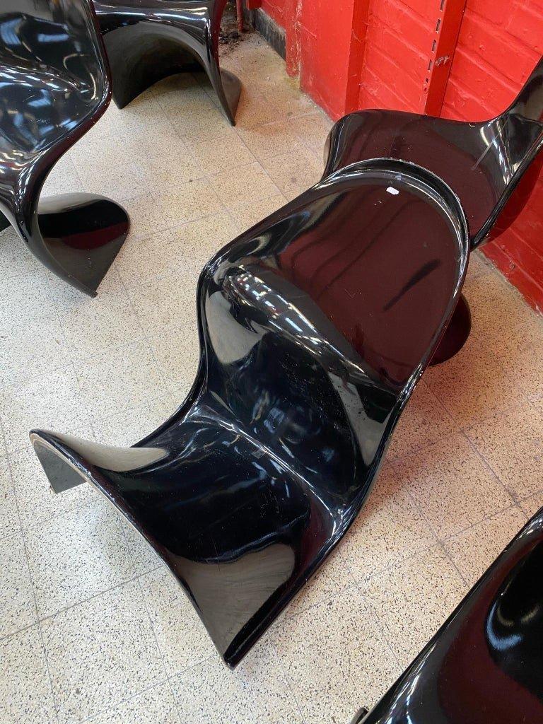 "Verner Panton ""Panton Chair"" 6 Originales Chaises Edition Herman Miller circa 1960-photo-5"