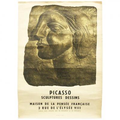 Pablo Picasso, Affiche d'époque,  , Pour Une Expo En 1958