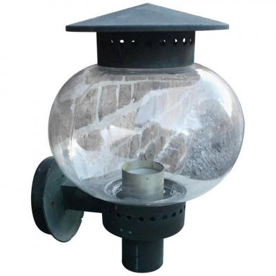 Perzel (attributed To), Outdoor Art Deco Lamp, Circa 1930