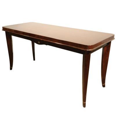 Table De Salon Art Deco En Acajou Vers 1940/1950