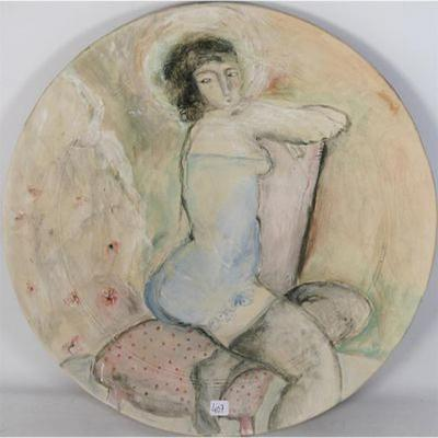 Stephanie Raymond , Grand Plat En Ceramique (51 Cm) Signé
