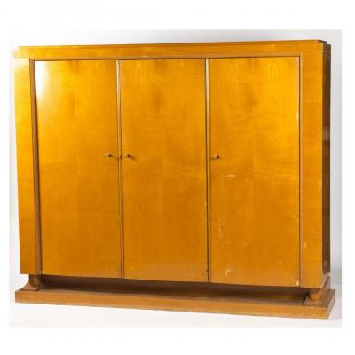 Francisque Chaleyssin (1872-1951) Armoire Art Deco En Sycomore Circa 1940