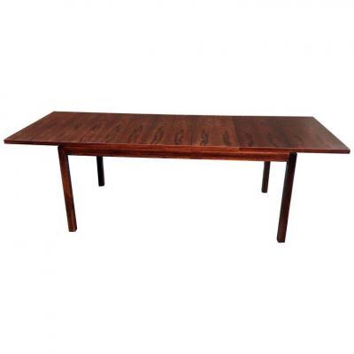 Table Vintage En Palissandre Circa 1960 , Style Scandinave.