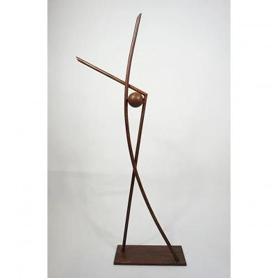 Guylaine Guy (1929) Composition. Metal Assembly. Height 117 Cm.