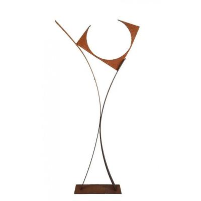 Guylaine Guy (1929) Composition. Metal Assembly. Height 143 Cm