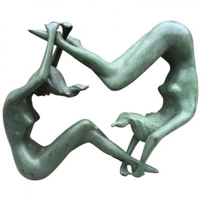 Sculpture En Bronze Circa 1970