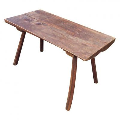 Brutalist Coffee Table In The Style Of Jean Touret, Marolles Workshop, Circa 1950