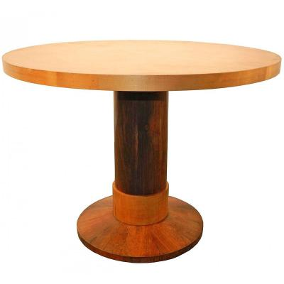 Pedestal Art Deco Period Around 1930 In Rosewood Veneer And Sycamore Veneer