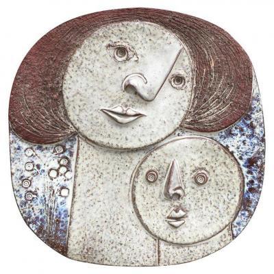 Claire Lambert (1936)  Grand Plat En Céramique , Atelier Dour, Circa 1960-1970