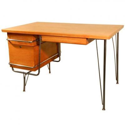 Heywood Wakefield Trimline Desk & Chair Kem Weber Design : U.s.a Period: 1950