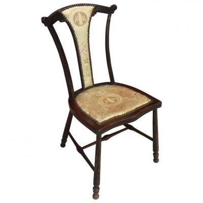 Charmante Petite Chaise Art Nouveau, Angleterre Circa 1900