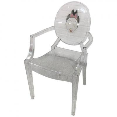 """Philippe Starck , fauteuil """" Louis Ghost"""" , edition Kartell"""