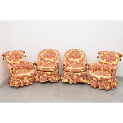Suite 4 Armchairs Toads, Possibility To Sell By Pair