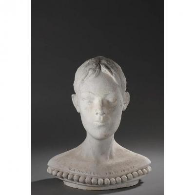 Dragoljub Milosevic (1939-2019) Jacqueline, 1998 Patinated Plaster Edition, Signed, Dated
