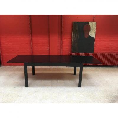 Table En Chêne Circa 1970 , 260 Cm Ouverte