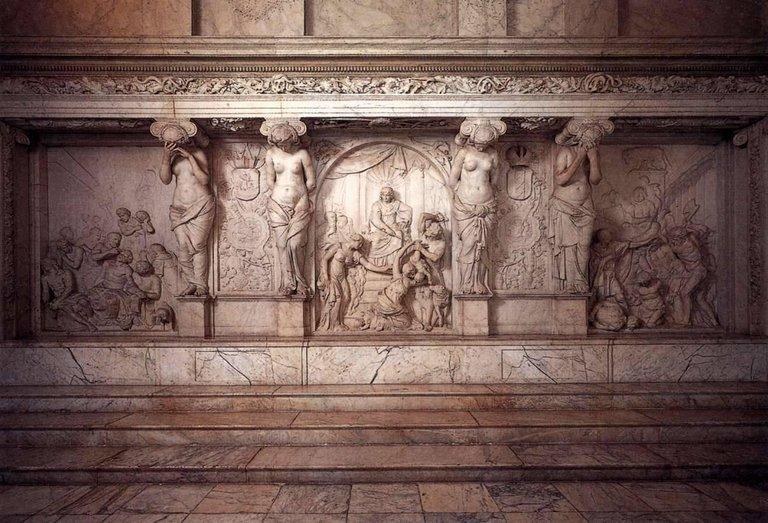 Cariatide En Grès De Bouffioux Réalisée Par Guerin. Inspirée Par Artus Quellin, XVIIème.-photo-4