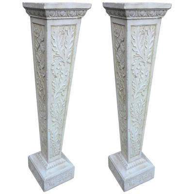 Pair Of Art Nouveau Sheaths In Reconstituted Stone Circa 1900/1930