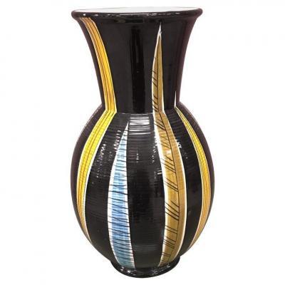 Saint Clement, Grand Vase En Ceramique Circa 1960