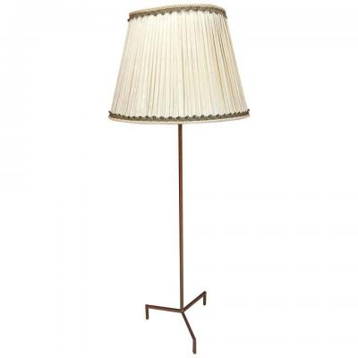 Floor Lamp In Golden Iron, In The Style Of Royere Circa 1950