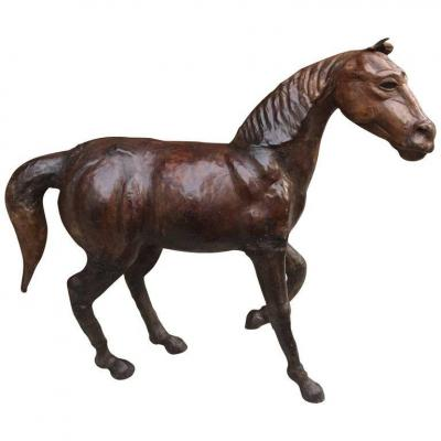 Horse Sculpture Covered With Leather, Circa 1970/1980