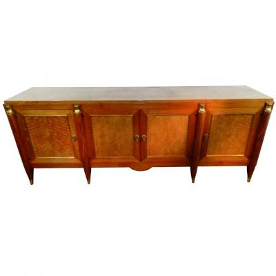 Maurice Jallot, Luxurious Sideboard Art Deco Mahogany Around 1940