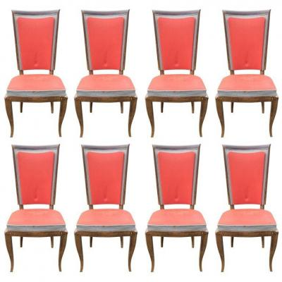 Suite Of 8 Chairs Art Deco Period, Circa 1930/1940