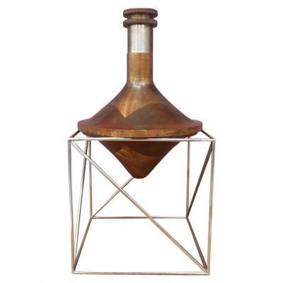 Rare Diabolo Lamp, Attributed To Max Sauzé Circa 1970