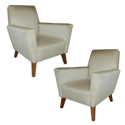Pair Of Art Deco Armchairs Circa 1950,