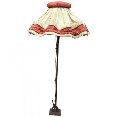 Guylaine Guy (1929)  Lampe En Fer Forgé Circa 1970